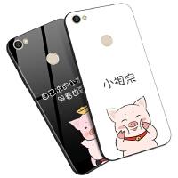小米红米note5A 4a 5a 4x玻璃手机壳保护套小祖宗猪情侣可爱