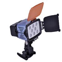 迪比科LED-S08摄像灯 摄影灯补光灯新闻灯8颗灯珠索尼摄像机松下
