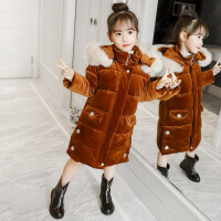 女童棉衣2018新款冬装女孩中大童洋气儿童棉袄加绒加厚外套潮