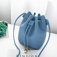 斜跨小包包女2020秋季新款韩版百搭可爱小清新迷你水桶包零钱包BLL3006