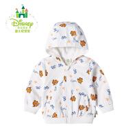 迪士尼Disney童装儿童外套春秋新款纯棉男童休闲前开带帽173S972