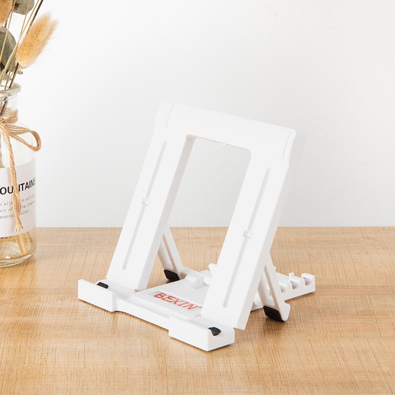 苹果平板电脑ipad折叠支架桌面懒人夹子通用手机直播便携式底座撑