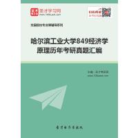 哈尔滨工业大学849经济学原理历年考研真题汇编