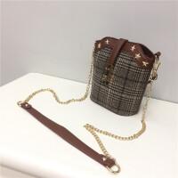 链条包斜挎小包复古手提小包水桶包单肩女包