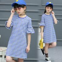 女童连衣裙夏装新款韩版中大童中袖公主裙儿童夏季连衣裙子