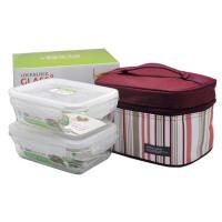 户外野餐包 热玻璃饭盒微波炉可用保鲜盒 玻璃饭盒 便当包