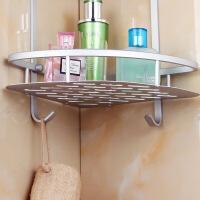 加厚太空铝浴室置物架 卫生间置物架洗手间厕所三角形转角架收纳壁挂收纳架 三层转角置物架 图片色