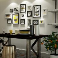 20180512104401620客厅简约现代创意装饰画墙壁黑白组合有框墙画个性挂墙餐厅挂画 178*84