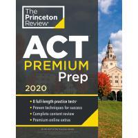 现货2020年新版美国大学预科课程 攻克ACT考试 白金版 2020 Princeton Review ACT Prem