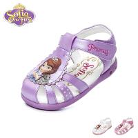 迪士尼Disney童鞋2018新款婴幼童学步鞋时尚趣致苏菲亚公主鞋闪灯婴童凉鞋(0-4岁可选) FS0451