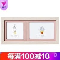 欧影同款官方正品创意韩版婚纱照宝宝相框摆台影楼像框挂墙5寸6寸7寸横版照片组合品质保证