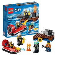 乐高LEGO CITY城市系列 60106 消防入门套装小颗粒5-12岁积木