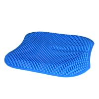 汽车坐垫四季通用夏季单片凉垫通风透气硅胶座垫夏天防烫按摩垫子 硅胶 蓝色
