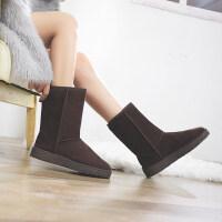 雪地靴女冬季百搭韩版棉鞋学生加厚防水加绒保暖中筒靴子