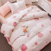3D毛毯薄款法兰绒珊瑚绒毯子加厚冬季床单人学生宿舍午睡毯 已质检120cmX200cm 【一等品】