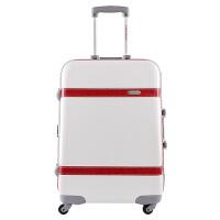 范塔 复古铝框拉杆箱可爱旅行箱女20/24寸潮皮箱行李箱万向轮原创 复古白-WHITE 20寸