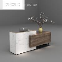ZUCZUG收银台柜台简约现代公司前台办公桌接待台吧台新款