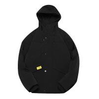 新年优惠【NEW】羽绒服士2018新款韩版宽松运动超薄冬季休闲工装连帽 黑色