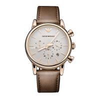 阿玛尼(Emporio Armani)手表 皮质表带男士休闲时尚石英腕表 AR2074