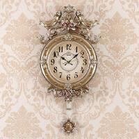 欧式挂钟客厅静音钟表 现代天使石英钟田园个性墙壁挂表创意挂钟