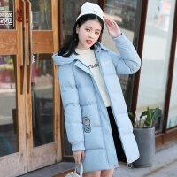初中学生冬装棉衣服外套中长款2018新款冬季少女韩版宽松可爱棉袄