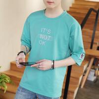 夏季上衣服男士圆领半袖t恤潮流修身打底衫韩版宽松男装短袖体恤
