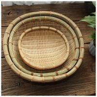 家用竹编蓝收纳框厨房蔬菜菜篮藤编小水果竹篮子放馍筐放馒头篓