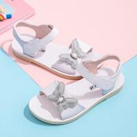 女童真皮凉鞋2019夏季新款儿童软底沙滩鞋中大童女孩时尚公主鞋