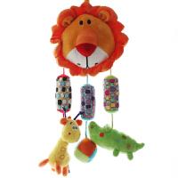 婴儿玩具0-3个月床铃床挂车挂毛绒布艺安抚新生儿宝宝摇铃