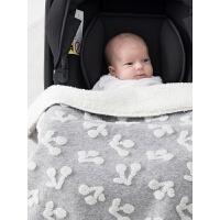 ins婴儿毛毯盖毯加大加厚推车毯被子宝宝新生儿秋冬云毯毯子