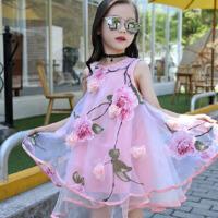 女童连衣裙夏装5蓬蓬裙6网纱7公主裙8儿童9春装12女孩裙
