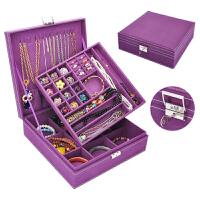 首�盒公主木�|�p��фi�W式�n��手�品耳�h��手�C收�{盒��s大 紫色 �p�映�大容量