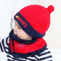 男童女童宝宝帽子秋冬1-2岁儿童保暖毛线帽6-12个月婴儿帽子冬季