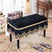 ???钢琴凳罩换鞋凳凳子罩化妆凳套罩坐垫椅垫子欧式蕾丝
