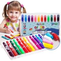 儿童蜡笔可水洗宝宝画笔小滑旋转蜡笔幼儿彩笔油画棒