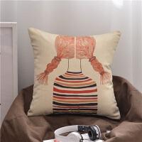 卡通沙发抱枕办公室腰枕 汽车靠垫床头靠枕午休枕抱枕套枕芯定制