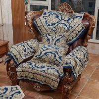 欧式沙发垫坐垫红色靠背巾扶手巾三人位提花防滑客厅