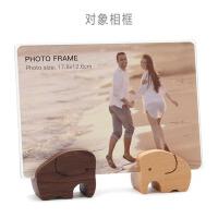 创意木质U形相框摆台6/7寸亚克力婚纱照照片框儿童相架画框