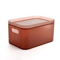 新品桌面收纳盒化妆品盒子办公桌塑料小置物架护肤品透明整理盒化妆盒