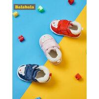 【12.17超品 3件4折】巴拉巴拉学步鞋婴儿鞋宝宝鞋2018新款冬季儿童鞋子6-12个月加绒潮