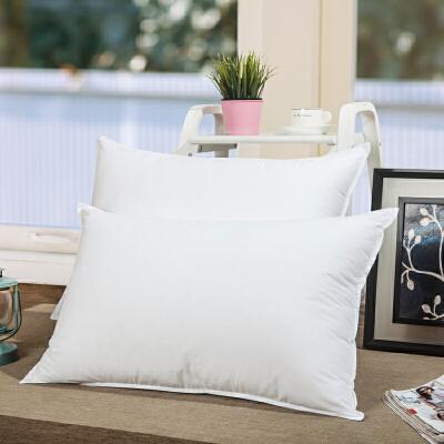 蓬松酒店枕芯纯白色3D超细可水洗柔软舒适枕头单人 48*74(双压线一只装)