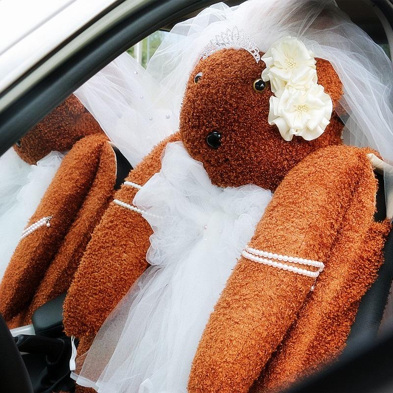 冬季毛绒汽车坐垫通用加热车暖垫女士全包可爱婚纱个性时尚座垫套