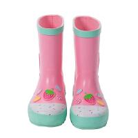 儿童防滑雨靴女可爱公主中大童雨衣雨鞋套装幼儿园小孩水鞋四季