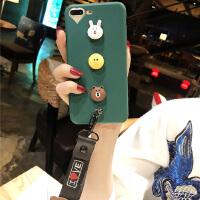 卡通熊兔XS手机套Max苹果6s手机壳8p硅胶软壳挂绳iphone7plus套潮女款X10外壳