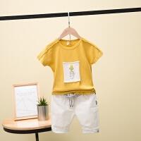 男童夏套装新款韩版时尚中大童儿童短袖裤子夏款两件套潮