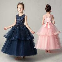 夏季儿童公主裙女童婚纱礼服背心长裙演出连衣裙中大童蕾丝纱裙子