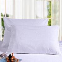 枕套枕头枕芯保护套床上用品内胆流拉链枕套 白色 毛巾布 单个白
