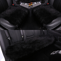 冬季汽车坐垫三件套无靠背单片座垫冬天车用保暖长羊毛绒女士坐垫