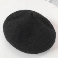 网红贝雷帽女士秋冬韩版呢蓓蕾帽日系可爱英伦画家帽yly 内有抽绳(56-58cm)