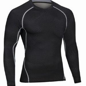 健身服男篮球跑步训练服弹力压缩速干衣运动紧身衣长袖MA19
